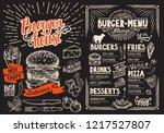 burger restaurant menu on... | Shutterstock .eps vector #1217527807