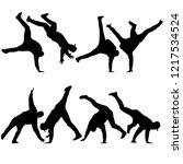 black set silhouettes...   Shutterstock .eps vector #1217534524