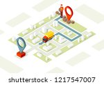 delivery service isometric... | Shutterstock .eps vector #1217547007