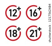 age restricted content sign icon | Shutterstock .eps vector #1217562484