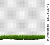 grass border isolated... | Shutterstock . vector #1217563741