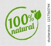 100  natural logo symbol... | Shutterstock . vector #1217563744
