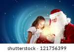 portrait of santa claus with a... | Shutterstock . vector #121756399