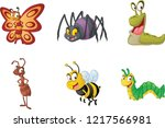 group of cartoon insects.... | Shutterstock .eps vector #1217566981