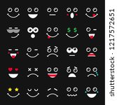 smile coloured icons.... | Shutterstock .eps vector #1217572651