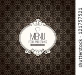 restaurant menu design | Shutterstock .eps vector #121757521