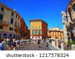 verona lombardy italy july 19... | Shutterstock . vector #1217578324
