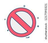 not allowed icon design vector | Shutterstock .eps vector #1217593321