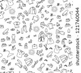 clothes fashion seamless pattern | Shutterstock .eps vector #121760044