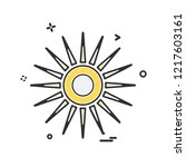 sun icon design vector | Shutterstock .eps vector #1217603161