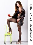 woman seductive model enjoy...   Shutterstock . vector #1217622811