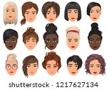 woman realistic detailed avatar ... | Shutterstock .eps vector #1217627134
