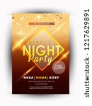 night party  music night poster ... | Shutterstock .eps vector #1217629891