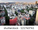 aerial view of mexico city ... | Shutterstock . vector #121763761