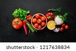 vegetable background. fresh...