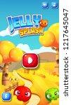 mobile reskin   match 3 splash... | Shutterstock .eps vector #1217645047