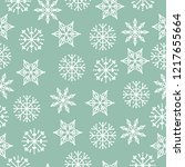 christmas seamless pattern.... | Shutterstock .eps vector #1217655664