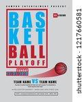 playoff university basketball...   Shutterstock .eps vector #1217660581