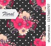 trendy seamless floral pattern... | Shutterstock .eps vector #1217660707