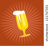 vector beer glass with seamless ... | Shutterstock .eps vector #121767331