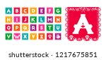 mexican style alphabet... | Shutterstock .eps vector #1217675851