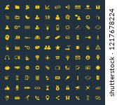 universal mix icon set of 100... | Shutterstock .eps vector #1217678224