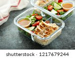 meal prep lunch box containers... | Shutterstock . vector #1217679244