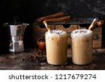 cold refreshing iced coffee in... | Shutterstock . vector #1217679274