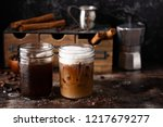 cold refreshing iced coffee in... | Shutterstock . vector #1217679277