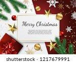 banner with vector christmas... | Shutterstock .eps vector #1217679991