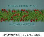 background with wishes merry... | Shutterstock .eps vector #1217682301