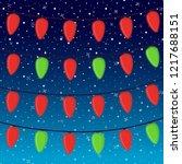 vector cartoon bright garland... | Shutterstock .eps vector #1217688151