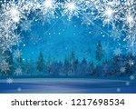 vector winter wonderland... | Shutterstock .eps vector #1217698534