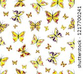 vector illustration. seamless... | Shutterstock .eps vector #1217700241