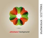 abstract heart   flower... | Shutterstock .eps vector #121770061