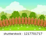 beautiful countryside landscape ... | Shutterstock .eps vector #1217701717