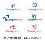 vector illustrations of houses...   Shutterstock .eps vector #1217705434