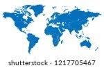 the world and bhutan map | Shutterstock .eps vector #1217705467