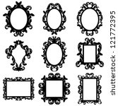 vector set of baroque frame