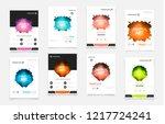 abstract vector business...   Shutterstock .eps vector #1217724241