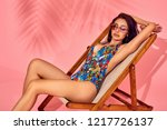 summer lifestyle fashion... | Shutterstock . vector #1217726137