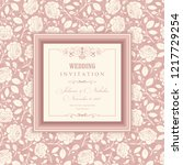 wedding  invitation  with... | Shutterstock .eps vector #1217729254