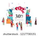 promo christmas  new year... | Shutterstock .eps vector #1217730151