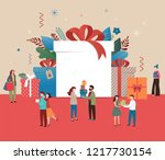promo christmas  new year... | Shutterstock .eps vector #1217730154