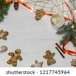 christmas background for... | Shutterstock . vector #1217745964