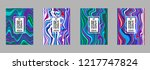 covers templates set with... | Shutterstock .eps vector #1217747824