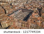 Aerial view of Plaza Mayor in Madrid