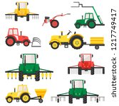 agricultural harvesting...   Shutterstock .eps vector #1217749417