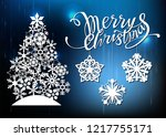 christmas and new year  laser... | Shutterstock .eps vector #1217755171
