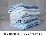 folded cozy fleece baby boy... | Shutterstock . vector #1217760454